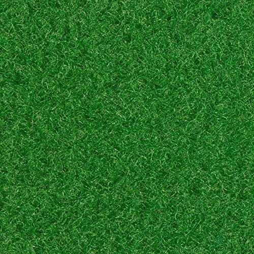 Kunstrasen Rasenteppich Fertigrasen Nadelfilz mit Noppen 6,5mm grün 200 und 400 cm breit, verschiedene Längen, Variante: 5 x 4 m