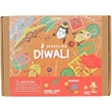 jackinthebox indian festival diwali themed craft kit kids adults | 3 activities-in-1 | great gift boys girls 5 years up | mak