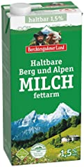 Berchtesgadener Land Haltbare Berg und Alpen Milch 1,5% Fett 1 l
