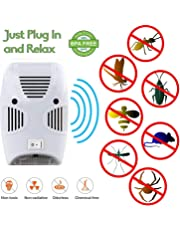 Gopendra Non-Toxic Home Ultrasonic Pest Repeller Control Reject Device Spider Lizard Mice Repellent for Mosquito, Ant, Flea, Rats, Roaches, Cockroaches, Fruit Fly, Rodent, Insect (White)