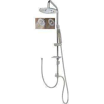 Shower Set, Shower System, Overhead Shower Rail 120 cm Waterfall ...