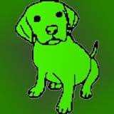 Doodle Dawg - Croquis, Dessin, Couleur, design sur une toile vierge ou la photo