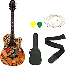 Zabel Zbtr09 Acoustic Guitar With Truss Rod Combo With Bag, Strap, One Pack Strings And 3 Picks