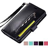 ZCDAYE Wallet Case for Galaxy S9 Plus,Premium Magnetic Multi-Functional Handbag Dual Folio PU Leather Stand Flip Case Cover w
