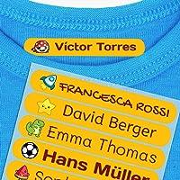 Haberdashery Online 50 Etichette termoadesive Personalizzate, di 6 x 1 cm, per contrassegnare i Vestiti. Colore…