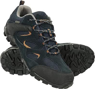 Mountain Warehouse Chaussures de Marche imperméables Curlews pour Homme - Bottes en Daim et Maille à séchage Rapide, Semelle en Caoutchouc - pour Camping et randonnée