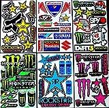 6 bogen Aufkleber Zsw selbstklebend Stickers rockstar energy drink BMX moto-cross decals Abziehbilder MX