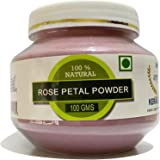 RAINTECH HERBALS Pure & Natural Double Filtered Rose Petal Powder For Skin, Face Pack Mask for Fairness, Tanning & Glowing Sk