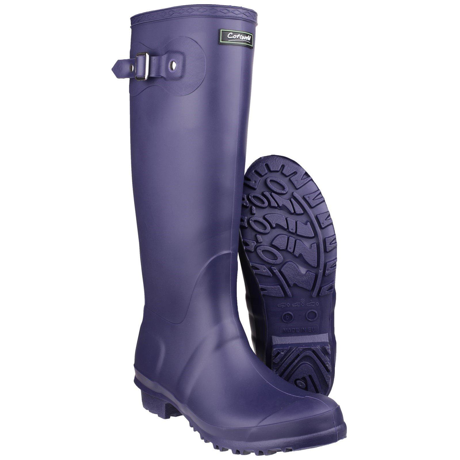 Cotswold Cotswold Damen Sandringham Wellington Stiefel Gummistiefel Regenstiefel Schuhe Lila EUR 43
