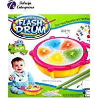 Talreja Enterprises Musical Flash Drum with Real Sound and LED Flash Light