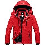 GEMYSE Men's Waterproof Ski Snow Jacket Insulated Winter Windproof Fleece Jacket with Hood