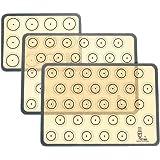 SUPER KITCHEN Tapis de Cuisson,Tapis de Four en Silicone pour Le Biscuit et Macaron -Trois pièces/Ensemble Doublures de plate