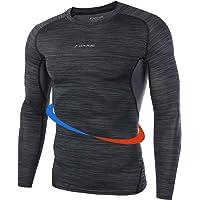 Maglietta Compressione Uomo Maglia Ciclismo Uomo Maglia a Manica Lunga Compression Traspirante Asciugatura Rapida…