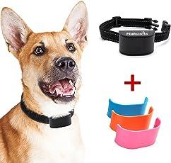 Nakosite BARK2433 Antibell halsband hund für mini kleine und grosse hunde mit batterie Bark control collar, stoppt das Bellen von Hunden. Es verwendet akustisch wahrnehmbare Geräusche und Vibrationen. KEINE ELEKTROSCHOCKS. Fortschrittlichste Chiptechnologie mit 7 einstellbaren Empfindlichkeitsreglern. Flexible und verstellbare Nylonbänder. EIN- und AUSSCHALTER. Farbe: Schwarz. BONUS: 3 Abdeckplatten
