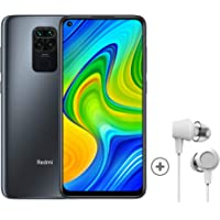 "Xiaomi Redmi Note 9 Smartphone + Kopfhörer (16,59 cm (6,53"") FHD+ Display, 128GB interner Speicher, 4GB RAM, 48MP Quad…"