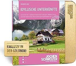 Jochen Schweizer Hotelgutschein IDYLLISCHE UNTERKÜNFTE für 2  1ÜN für 2 Personen inkl. Frühstück 80 Hotels   inkl. Geschenkbox