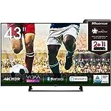 Hisense 43AE7200F 108 cm (43 Zoll) Fernseher (4K Ultra HD, HDR, Triple Tuner DVB-C/ S/ S2/ T/ T2, Smart TV, Mittelstandfuß, F