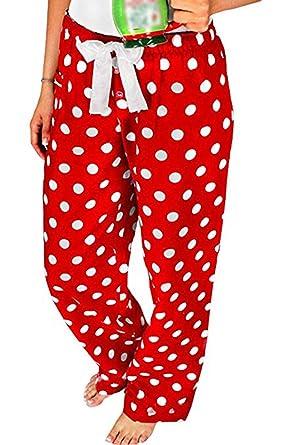Femme Pois Pour Pyjama Noël Pantalon De Vêtement À Pjs NuitAmazon TlcK1JF3