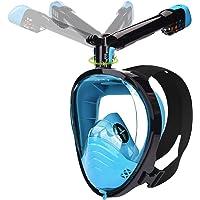 LEMEGO Tauchmaske Schnorchelmaske Vollmaske mit Neueste Atemsystems Design Vollgesichtsmaske mit 360° Schnorchel 180…