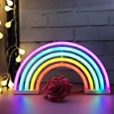 Regenbogen LED Leuchtreklamen Kunst Bunte,Neon Lampe Nachtlichter Innenwanddekor für Home Party Jubiläum Valentinstag Geschen