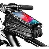 Faireach Bolsa Manillar Bicicleta, Bolsa Bicicleta Cuadro, Accesorios Bicicletas Montaña Impermeable con Ventana para Pantall