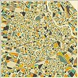 Poster 13 x 13 cm: Wien Karte von Jazzberry Blue -
