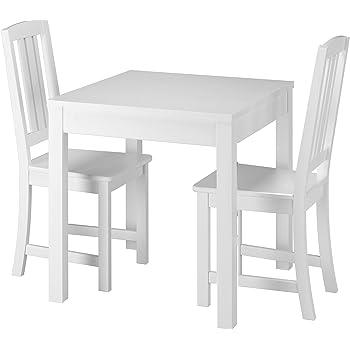 Amazon.de: Klassische Kleine Essgruppe Tisch 2 Stühle Kiefer ...