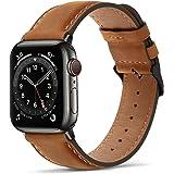 Tasikar klockarmband kompatibelt med Apple klockarmband, förstklassigt äkta läder, utbytesarmband, kompatibel med Apple Watch