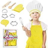 dmazing Grembiule e Accessori da Cucina per Bambini Set - Regalo & Giocattolo
