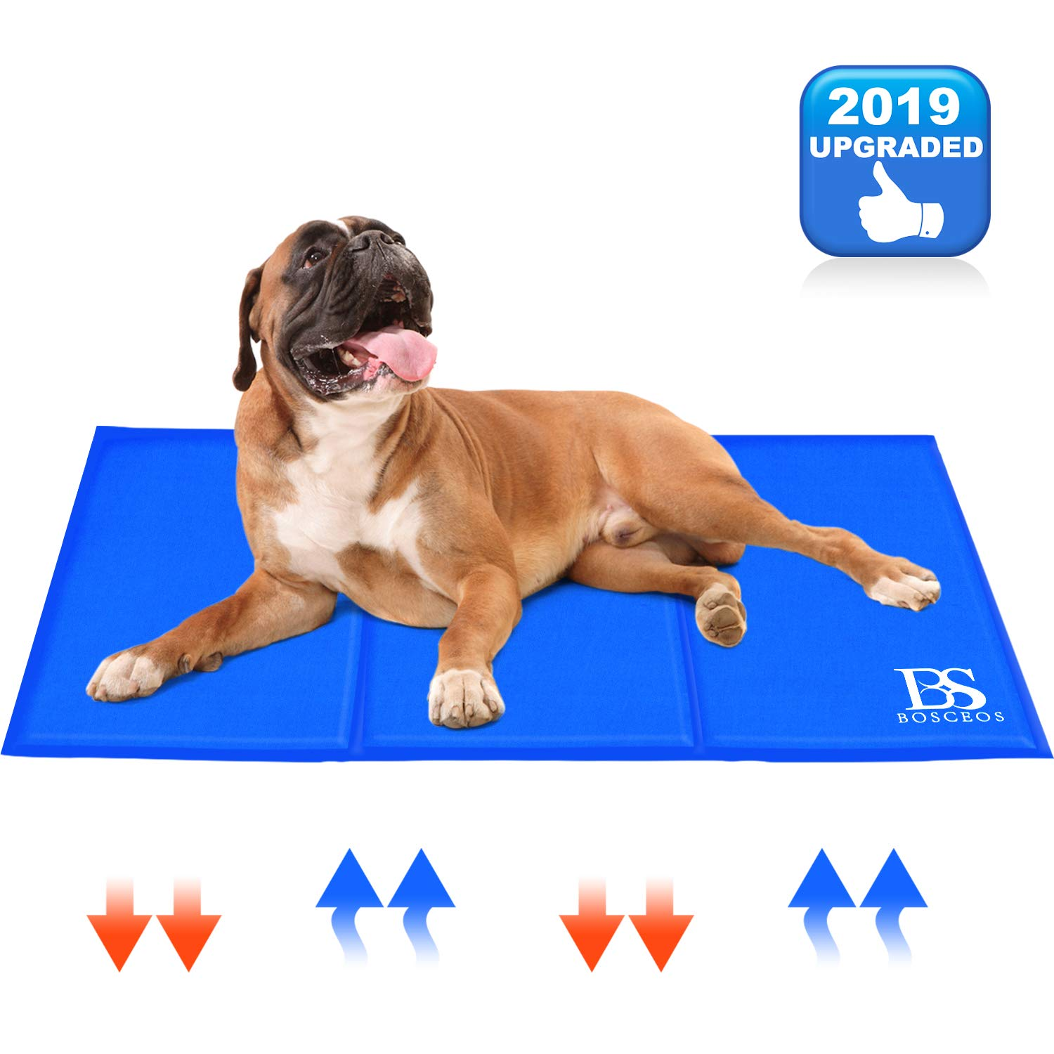 Upgraded Large Dog Cooling Mat Waterproof Scratchproof Activated Gel Cooling Pad For Dogs Non Toxic Great Dog Accessories To Help Your Pet Stay