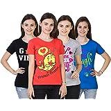 VEERAA CLOTHING Women's Classic Fit T-shirt (Set of 3)