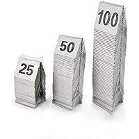 ZHANGAIGUO Set di Numeri di Tavola in Acciaio Inox, Numero Tavolino da 1-25/1-50/1-100 TEND per Ristoranti E caffè 25/50…