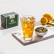 VAHDAM, Citrus Cooler Eistee | 40 Portionen, 8 Quarts | 100% natürliche Inhaltsstoffe | Köstliches Aroma von schwarzem Tee und Zitrone | Zitrone Eistee | Eistee Loose Leaf | 3,53 Unzen (2er Set)
