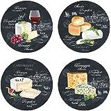 Sans Marque 463WOCH Set van 4 Kaas op Slate Dessertborden