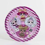 10058618 Lol Surprise Pack 8 platos cartón 23 cm