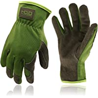 Work Gloves for Men Women, Utility Leather Gardening Gloves - Safety Working Gloves Cowhide Dexterity & Breathable…
