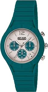 Orologio HIP-HOP UOMO X MAN quadrante MONO-COLORE ARGENTO movimento CHRONO QUARZO e CINTURINO SILICONE BLU HWU0688