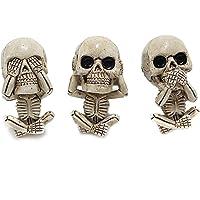 Kuaijie Evil Skull Trio Statue EIN Lot de 3 statues avec désodorisant pour voiture Motif tête de mort