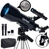 Upchase Telescopio Astronomico, 400/70mm Portátil y Potente Refractor Telescopio, Adecuado para Principiantes-Regalos para Ni