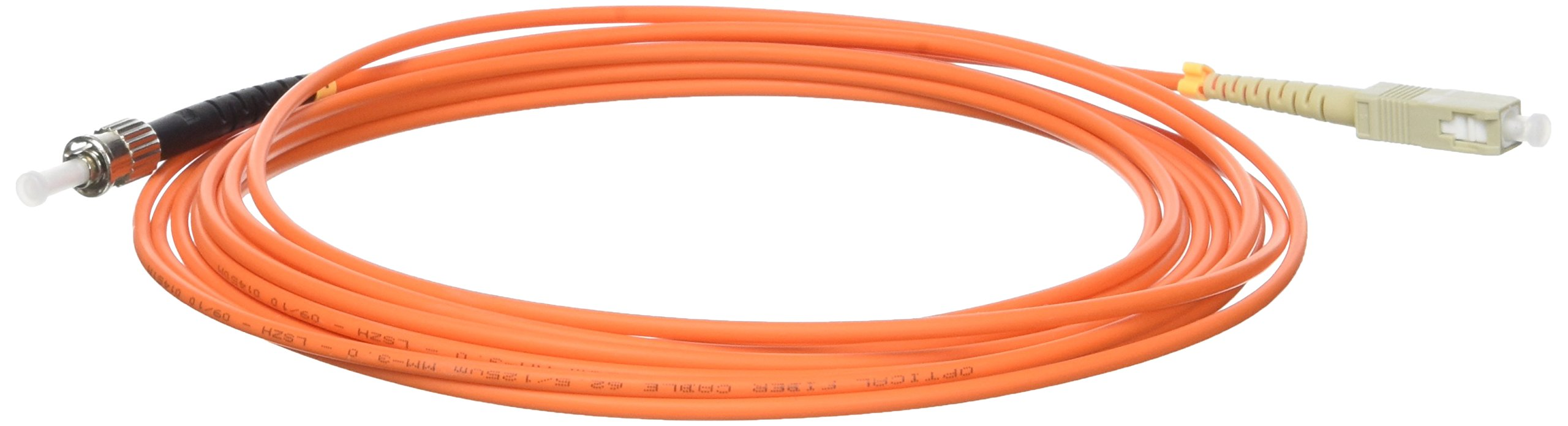 Cablematic - Cable de fibra óptica ST a SC multimodo simplex 62.5/125 de 5 m