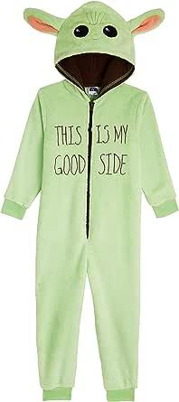 Star Wars Boys Pyjamas, Baby Yoda Fleece Onesie, The Mandalorian PJs 4-14 Years