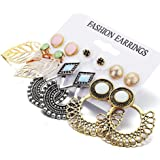 Shining Diva Fashion Latest Collection 6 and 9 Pairs Combo Set Stud Tassel Earrings For Women and Girls