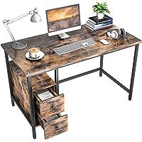 Schreibtisch mit 2 Schubladen, GIKPAL Computertisch Bürotisch aus Stahl & Holz, 120 x 60 x 75 cm Laptop-Schreibtisch…