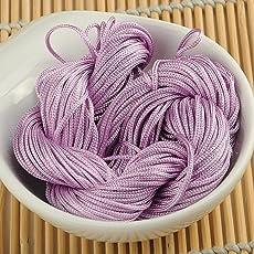 Generic 1 Pc Light Purple : 10 Color 1Mm*30Yard Nylon Cord Thread Chinese Knot Macrame Rattail For Diy Bracelet Braided