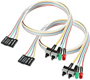 Electop PC Reset Switch Cable LED Light ATX Power Switch Cable 65 cm HDD Switch Cable 2-Pack