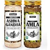 YOGAFY- Combo- Himalayan Ashwagandha Herbal Powder - 100g & Organic Amla Powder -100g | Immunity Booster Combo| 200g