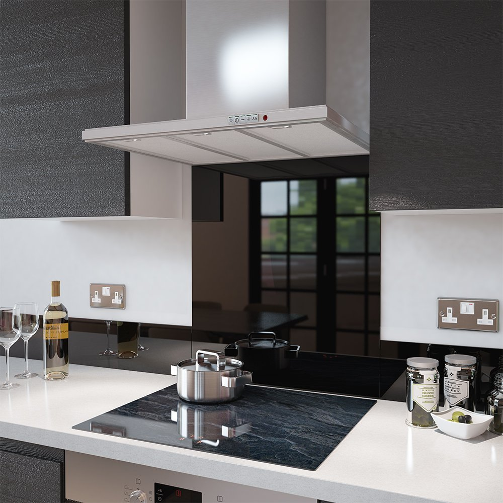 Kitchen Tiles And Splashbacks Premier Range Black Heat Resistant Toughened Safety Glass