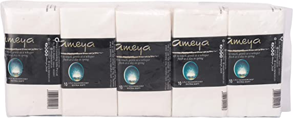 ameya Premium Pocket Tissue 3 ply- (twin pack of 1 x 10)