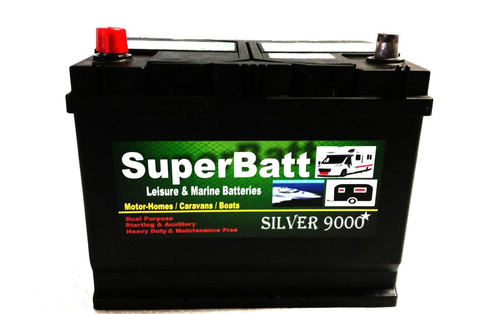 SuperBatt 12V 85AH CB22MF Leisure Battery Caravan Motorhome Marine Boat
