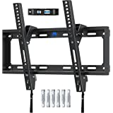 Mounting Dream Tilt TV Bracket Wall Mount, For Most 26-55 inch Flat and Curved TVs up to VESA 400x400mm and 40 KG, Ultra Slim